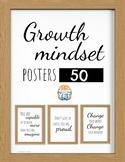 50 Growth Mindset - Modern Farmhouse - Poster Set