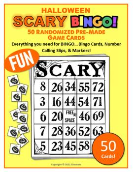 50 Halloween Scary Bingo Cards