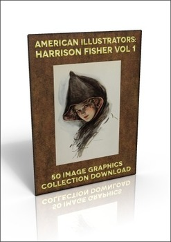 50 Harrison Fisher illustrations (Vol.1) to do anything you like with!