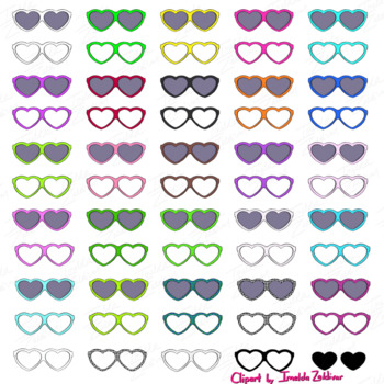 50 Heart Shades and Glasses