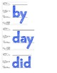 50 High Frequency Words (Fountas and Pinnell)