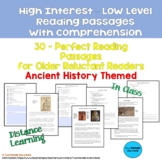 30 High Interest: Low Level Reading & Comprehension Passages Ancient History