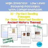 30 High Interest: Low Level Reading & Comprehension Passag