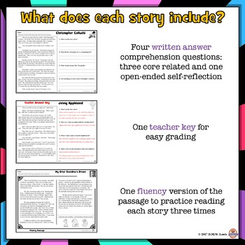 50 Holiday Reading Fluency + Comprehension Passages with Questions: 80 Stories!