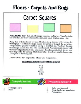 50 Housing, Design & Furnishings Games & Activities Packet