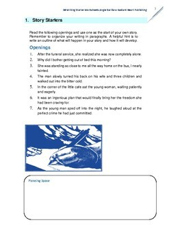 50 Instant Writing Starters Worksheets: English Extras 1