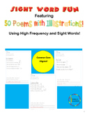 50 Illustrated Sight Word Poems for K and 1