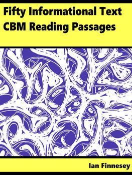 50 Informational Text CBM Reading Comprehension Passages (RTI CBM Reptition)