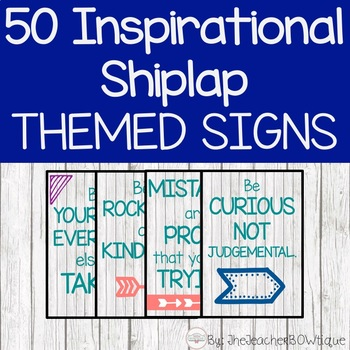 50 Inspirational Shiplap Themed Signs