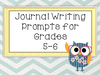 50 Journal Writing Prompts for Grades 5-6 (Individual)