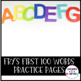 Fry's First 50 Sight Word Practice Pages