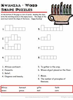 50 Kwanzaa Worksheets Grades 1- 4