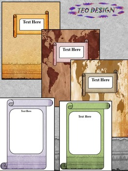 Classroom Decor - Editable MAPS LABELS - Geography VINTAGE Theme-