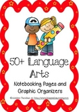 50+ Language Arts Notebooking Pages and Graphic Organizers