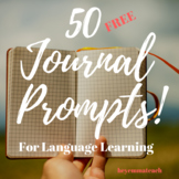 50 Language Learning Journal Prompts