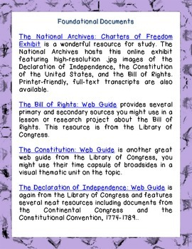 FREE Links to Informational Texts for Middle and High School Grades