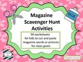 Magazine Scavenger Hunt Worksheet Activities