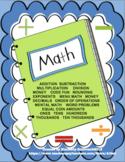 Math Printables No Prep!  Grades 3 - 5 Basic Skills  Homework  Review Assessment