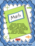 Math Printables No Prep!  Grades 3 - 5 Basic Skills  Homew