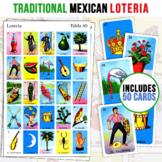 50 Mexican Loteria Game Cards   5X5 Spanish Bingo   Kid Friendly