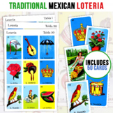 50 Mexican Loteria Game Cards   Kid Friendly   3X3 Spanish Bingo