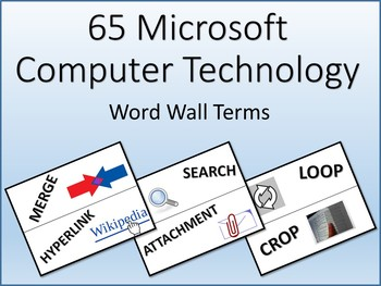 60 Microsoft Computer Technology Word Wall Terms