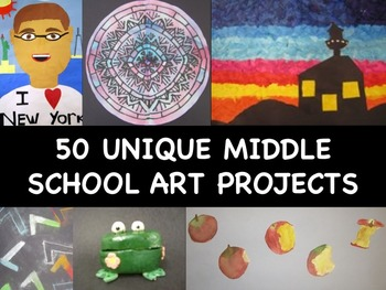 art projects for middle school 50 middle school project ideas by meghcallie tpt 11877