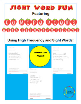 50 More Illustrated Sight Word Poems Using Sight Words For K, 1, and 2