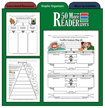 50 More READERizers (Graphic Organizers for Literature and Reading)