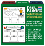 50 More READERizers (Graphic Organizers for Literature and
