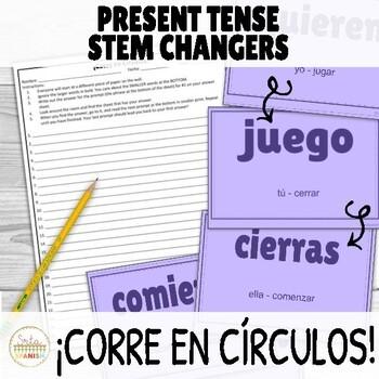Present Tense Stem Changers Activity ¡Corre en Círculos!