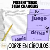 Present Tense Stem Changers Activity ¡Corre en Círculos! w