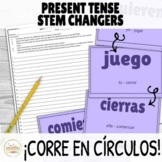 Present Tense Stem Changers Activity ¡Corre en Círculos!