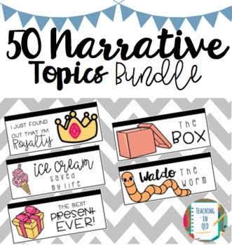 50 Narrative Writing Topic Bundle NAPLAN Prep