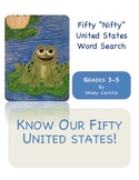 """50 """"Nifity"""" United States Word Search"""