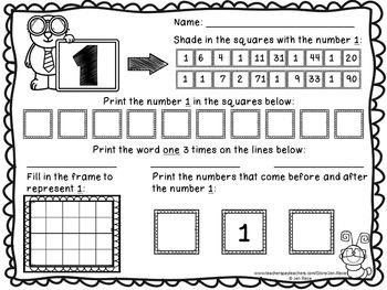 1-20 Number Fun Worksheets {Math Practice}