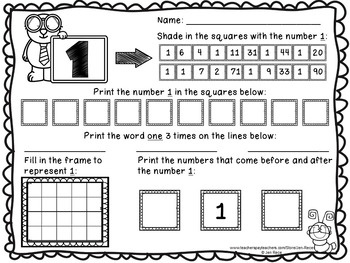 1-20 Number Fun - Math