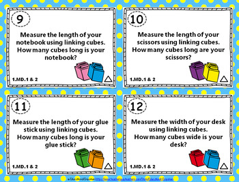 1.MD.1 Task Cards 1.MD.2: Measuring & Comparing Lengths Centers