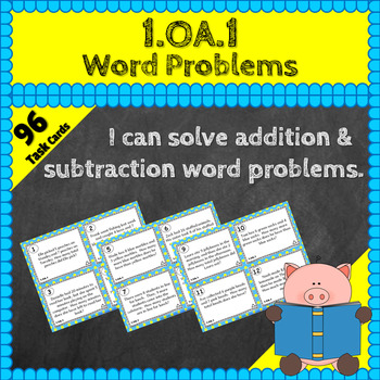 1.OA.1 Task Cards: Addition & Subtraction Word Problems Ta