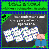 1.OA.3 Task Cards 1.OA.4 Centers: Addition and Subtraction Strategies