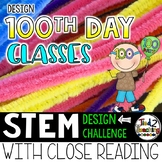100th Day of School STEM Challenge - GLASSES Design Challenge