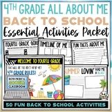 Beach Back to School Activities Fourth Grade Print AND Digital