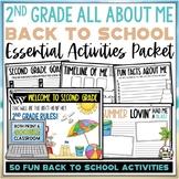 Beach 24 Back to School Activities Second Grade Print AND Digital