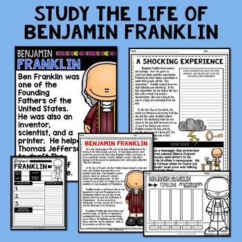 Benjamin Franklin Mini Biography Unit