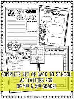 Boot Camp Theme Back to School Activities for BIG KIDS