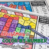 Christmas Coloring Pages Equivalent Fractions Color by Number