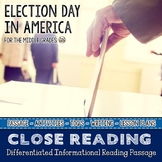 Election Day an Elections and Voting Differentiated Close Reading