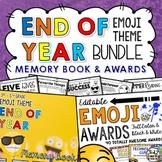 End of Year Memory Book AND Awards Bundle EMOJI THEME