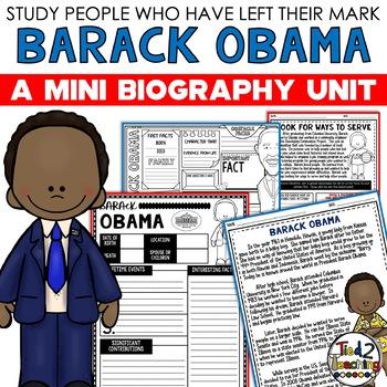 Barack Obama Mini Biography Unit