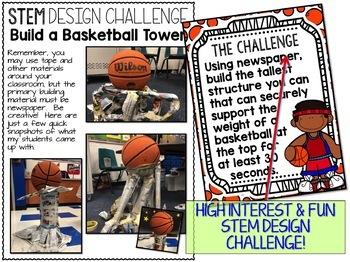 Basketball Tower STEM Challenge